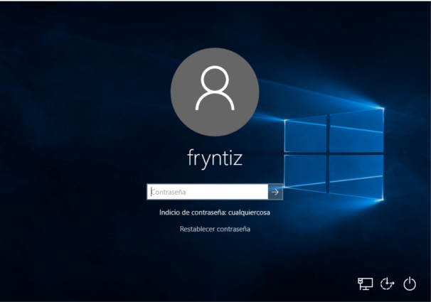 Pantalla de login Windows 10